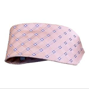 Valentino Men's Pink and Blue Design Neck Tie